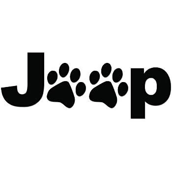 Amazon Com Puppy Paw Print Jeep Logo Die Cut Vinyl Decal