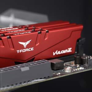 TEAMGROUP T-Force Vulcan Z DDR4 32GB Single (1 x 32GB) 3000MHz (PC4-24000) CL 16 Desktop Gaming PC Memory Module Ram Upgrade 288-Pin DDR4 SDRAM TLZRD432G3000HC16C01 - Red