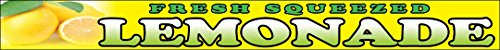1x10 Ft Fresh Squeezed Lemonade Vinyl Banner Sign yb