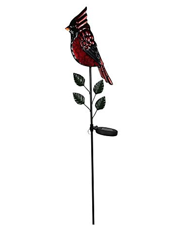 Moonrays 96371 Solar Garden Cardinal Stake Light, red from Moonrays