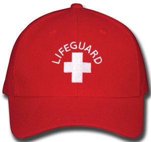 LIFEGUARD CAP - RED - FLEXFIX (Lifeguard White Hat)