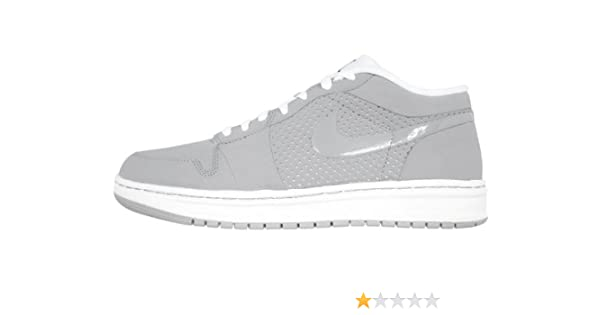 Men S Nike Air Jordan Alpha 1 Low 453839 001 Stealth White