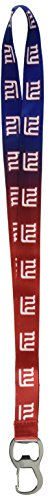 p NFL New York Giants Ombre Lanyard, Dark Blue/Red, Onse Size ()
