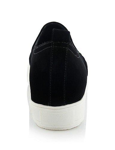 Uk6 sintético Plano 5 Redonda casual Zq 5 us8 punta us6 Eu37 White Zapatos mocasines Cn40 Uk4 negro 5 Blanco Cn37 7 Eu39 Oro Mujer tacón Gyht 5 Golden 5 De pwXwvUq