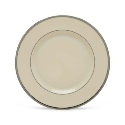 DistiKem(TM) Lenox Tuxedo Platinum Ivory China Salad Plate