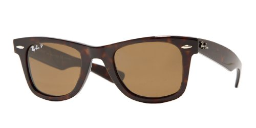 Ray-Ban RB2140 Original Wayfarer Icons Polarized Sunglasses, Tortoise/Brown, - Prices For Sunglasses Ray Ban