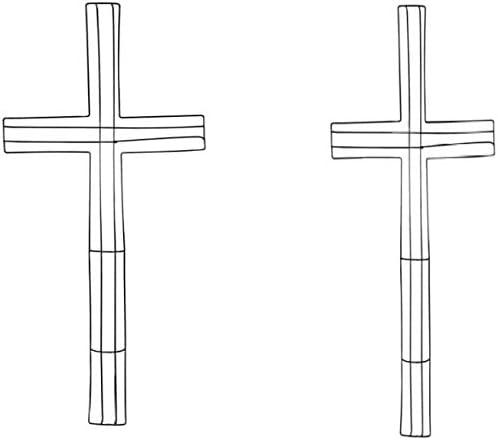 "HopGen Floral Cross Shaped Metal Wreath Form 2 Pack (Size: 24"" x 12"")"