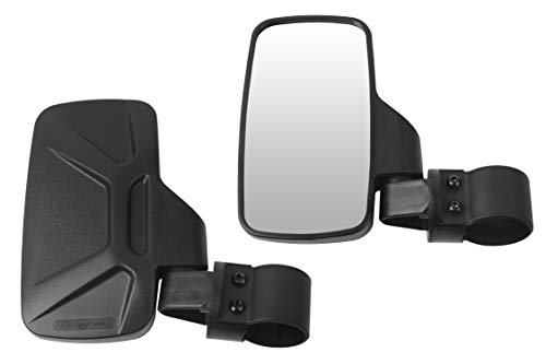 BETOOLL Upgraded Adjustable Pair UTV Side Mirror Set 1.75 or 2inch Roll Bar Cage, Universal UTV Side View Mirrors High Impact(Pack of 2) (Honda Pro Kart)