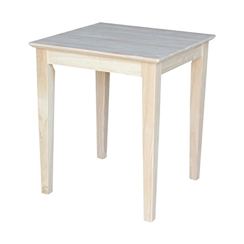 International Concepts Unfinished Tall Shaker Style End Table