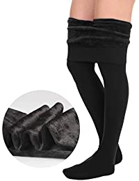 Winter Legging for Women - Warm Velvet Fleece Lined Thick Tights in Many Colors