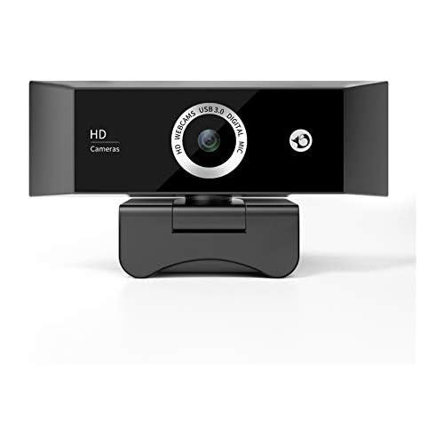 chollos oferta descuentos barato VddSmm Cámara Web 1080P Full HD con Micrófono Digital Cámara Web Antiinterferencias para Oficina Remota y Grabación de Video Negro