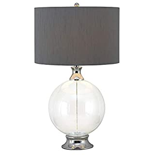 Table Lamp Clear Traditional Chrome Bulbs Included