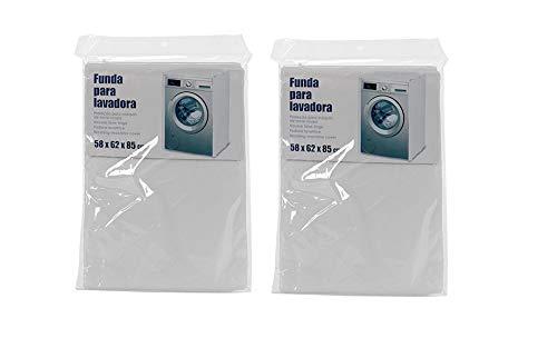 Dream Hogar Funda de Lavadora Pack x2 Cubierta Impermeable para Lavadora//Secadora de Carga Frontal para Lavadora o Secadora 58x85x62 cm