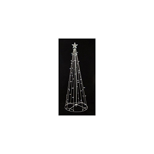 9' Lighted Outdoor Christmas Show Cone Tree Yard Art Decoration - Clear Lights by Sienna