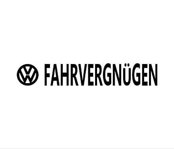 Fahrvergnugen Vinyl Decal Car Window Bumper Sticker Volkswagen Vw