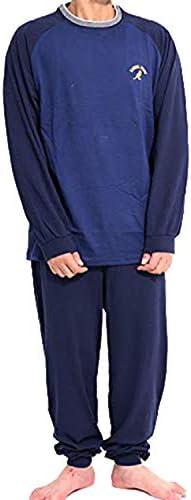 [カンゴール] メンズ パジャマ 綿100% コットン 長袖tシャツとロングパンツ 上下セット 47421