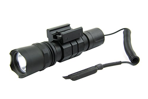 Tactical Flashlights Shotguns (TacFire Tactical Heavy Duty Strobe 220 Lumen Rifle/Shotgun Cree LED Flashlight)