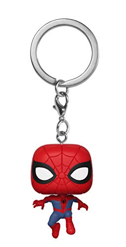 Funko Pop Keychain: Animated Spider-Man Movie - Spider-Man Collectible Figure, Multicolor