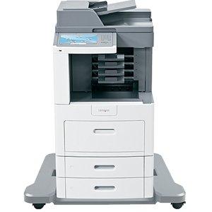 Lexmark X658DME Laser Multifunction Printer - Monochrome - Plain Paper Print - Desktop - Copier/Fax/Printer/Scanner - 55 ppm Mono Print - 1200 x 1200 dpi Print - 55 cpm Mono Copy - Touchscreen - 600 dpi Optical Scan - Automatic Duplex Print - 1200 sheets
