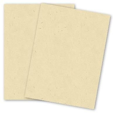 Cream Speckle Fiber 8-1/2-x-11 Cardstock Paper 25-pk - 216 GSM (80lb Cover) PaperPapers Letter size Card Stock Paper - Business, Card Making, Designers, Professional and DIY Projects