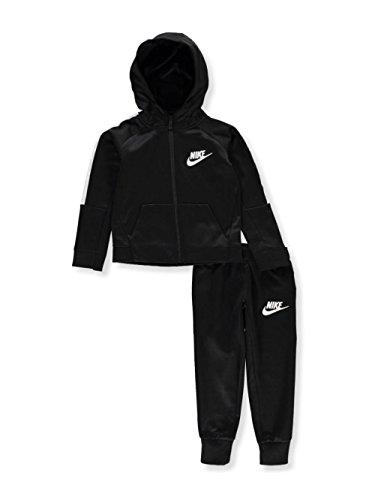NIKE Boys' 2-Piece Sweatsuit - Black, 6