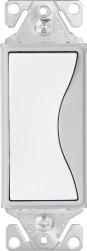 EATON 9503WS Core Aspire Rocker Switch, 120/277 Vac, 15 A, 3 Position, White Satin