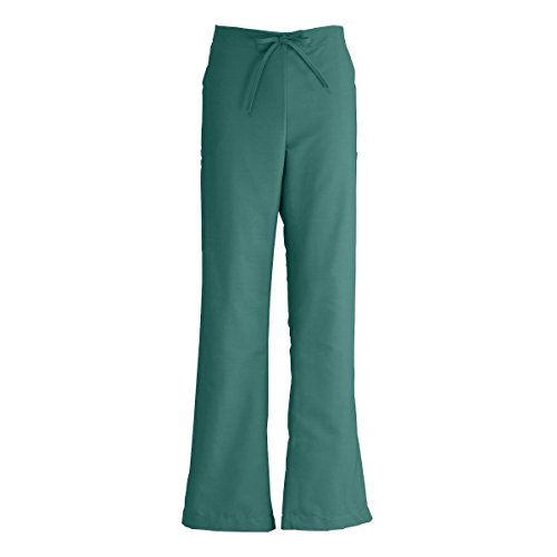 Medline ComfortEase Ladies Modern Fit Cargo Scrub Pant, Large, Evergreen