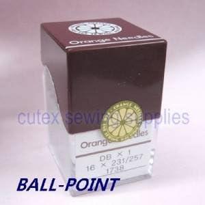 metric 65 100 Orange DBX1 16X231 16X257 Ball-Point Industrial Sewing Machine Needles Size 9