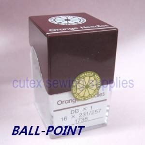 metric 70 100 Orange DBX1 16X231 16X257 1738 Industrial Sewing Machine Needles Size 10