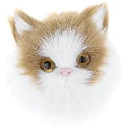 Baoblaze Animales Realistas de Peluche Gato de Simulación Decoración para Funda de Teléfono Móvil Bricolaje - Amarillo