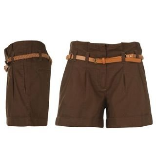 Kangol Chino Shorts Ladies Brown 10 (S): Amazon.co.uk: Clothing