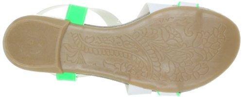 Nat-2 n2LOOPwhgW - Sandalias deportivas de cuero mujer blanco - Weiss (white green)
