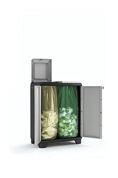 Negro//Gris 68 x 39 x 92 cm Keter Split Premium Cubo