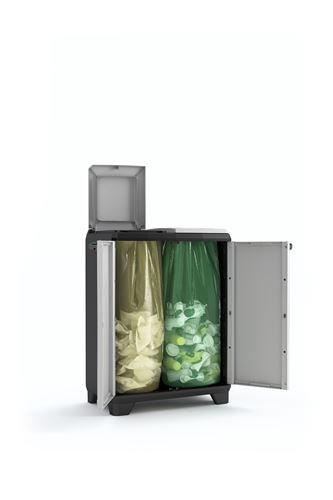 Keter Split Premium Cubo, Negro/Gris, 68 x 39 x 92 cm product