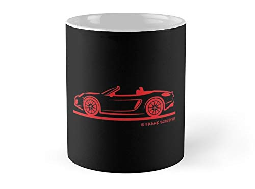 Army Mug Porsche 981 Boxster Red Top Down Mug - 11oz Mug - Features wraparound prints - Dishwasher safe - Made from Ceramic - Best gift for family friends