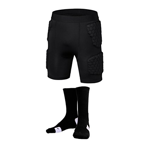 立方体成人期スポットLovoski 吸汗性 通気性 サッカー 野球  スライダー  圧縮   ショーツ   速乾性 タオル  汗  靴下 スポーツ 黒色