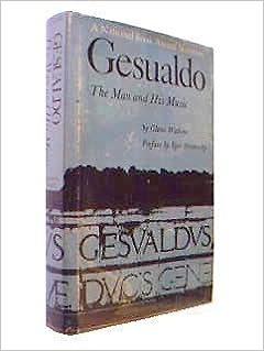 Book Gesualdo: The Man and His Music