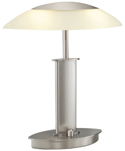 Sn Satin Nickel Desk (Holtkoetter 6244 SN CHA Halogen Table Lamp, Satin Nickel with Champagne Glass)