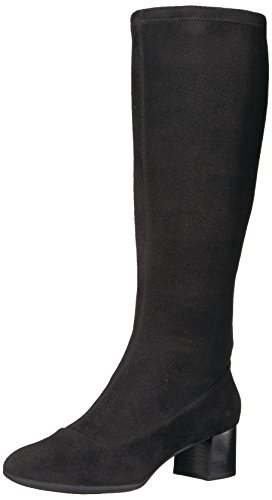 Rockport Women's Total Motion Novalie High Riding Boot, Black, 6.5 M (Rockport Foam Boot)