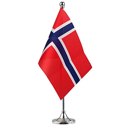 GentleGirl.USA Norway Flag Norwegian Flag Table Flag,Desk Flag,Office Flag,International World Country Flags Banners,Festival Events Celebration,Office Decoration,Desk,Home Decoration