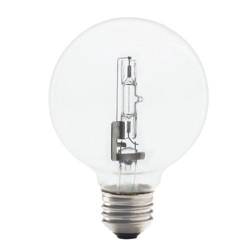 Bulbrite 43G25CL/ECO 43-watt Dimmable Eco Halogen G25 Globe, Medium Base, Clear