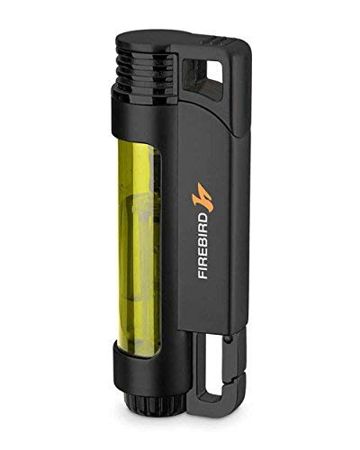 Illume Triple Torch Butane Refillable Cigar and Cigarette Lighter Transparent Yellow ()
