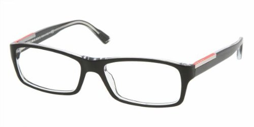 Eyeglasses Prada Linea Rossa PS 11AV 2AF1O1 TOP BLACK/CRYSTAL DEMO - Uk Womens Prada Glasses