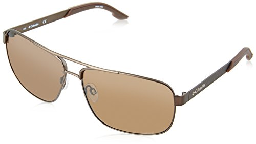 Columbia Men's Trails Edge Aviator Sunglasses, Walnut, 61 - Columbia Sunglasses