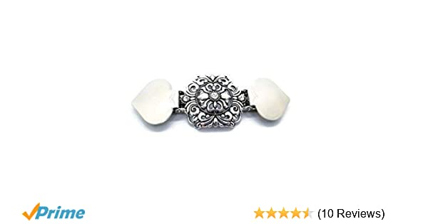 Cardigan or Other Clothing Cinch Together Your Dress Sweater Clothes Clip Handmade Oval Design