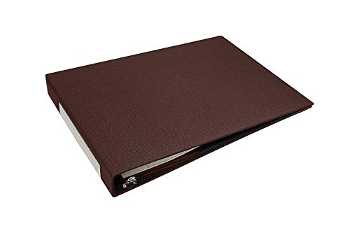 7 Ring Business Check Binder for 3 on a Page Checks   Large Storage Pouch, Calendar, and Ballpoint Pen Included, Burgundy by Essentially Yours (Image #4)