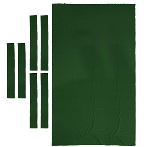 Baosity Professional Pool Table Felt Snooker Billiard Table Cloth Felt for 9ft Table - Green (Billiard Tablecloth Table Accessories)