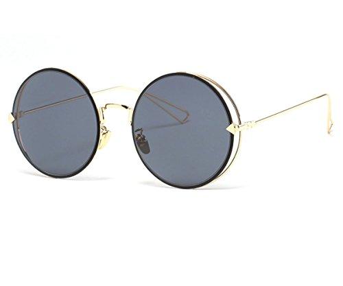 Konalla Punk Style Round Metal Arrow Full Frame Sunglasses -UV400 Lens - Sunglasses Shipping Nectar