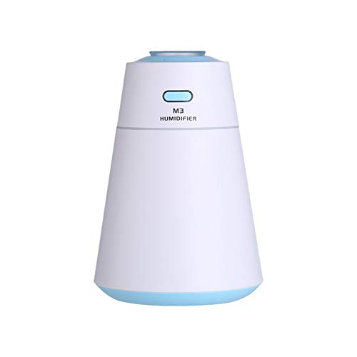 Lxmhz 200ml USB car humidifier Ultrasonic Diffuser Automatic Power Off Ultra-Quiet Adjustable Fog Mode Night Light Mode for Living Room Bedroom Yoga,3