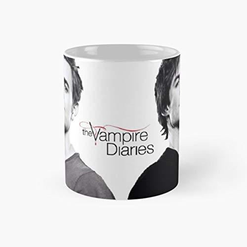 (The vampire diaries Salvatore Brothers Mug, stefan salvatore damon salvatore salvatore brothers the vampire diaries tvd the originals paul wesley ian somerhalder Cup, 11 Ounce Mug)